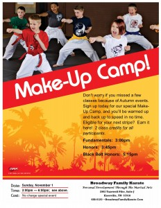 Make Up Camp November 1, 2015