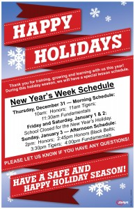 New Year's Hours Poster 2015