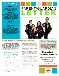 Parent Letter January 2016