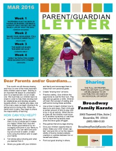 Parent Letter March 2016