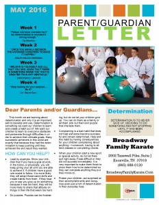 Parent Letter May 2016
