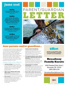 parent letter June 2016