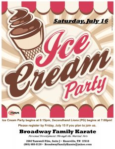 Ice Cream Party Flyer July 2016