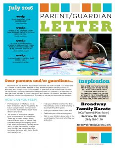 Parent Letter 2 July 2016