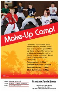 Make Up Camp Poster January 28, 2017