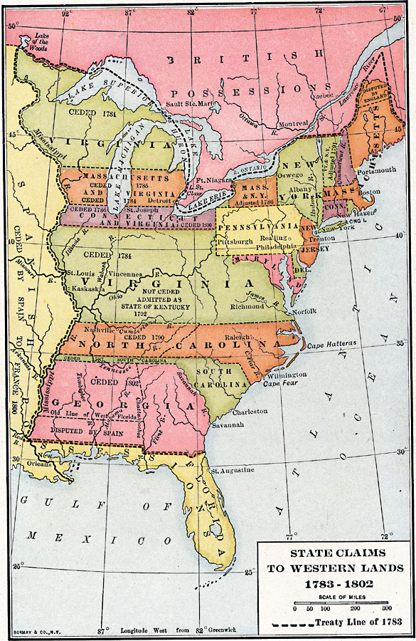 Treaty Of Paris Map 1783.Map Of The Us In 1783 Treaty Of Paris